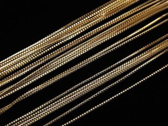【K10 Yellow Gold】 ネックレス ボックスチェーン 約0.6mm幅 50cm 1本