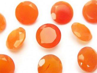 天然石卸 宝石質カーネリアンAAA 穴なしブリリアントカット12×12×5 3粒1,180円!
