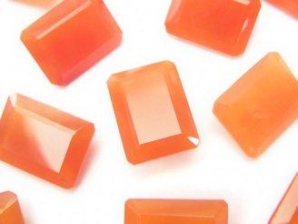 天然石卸 宝石質カーネリアンAAA 穴なしレクタングルファセットカット16×12×6 1粒780円!