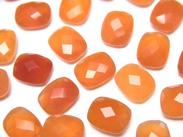 宝石質カーネリアンAAA 穴なしレクタングルカット10×8×4mm 5粒