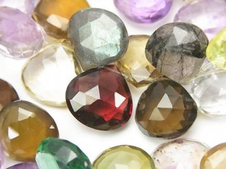 天然石卸 宝石質いろんな天然石AAA-〜AA++ 大粒マロン ブリオレットカット 1連(約19cm)