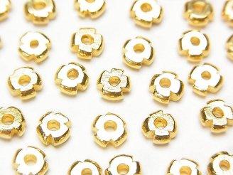天然石卸 カレンシルバー ロンデル6×6×2mm 18KGP 5個580円!