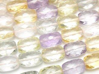 天然石卸 宝石質いろんな天然石AAA レクタングルカット12×8×6 1/4連〜1連(約38cm)