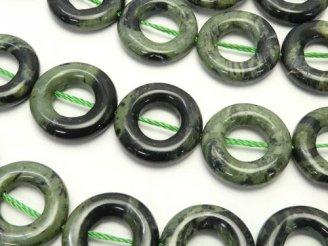 天然石卸 カンババジャスパー コイン(ドーナツ) 15×15×4 半連/1連(約38cm)