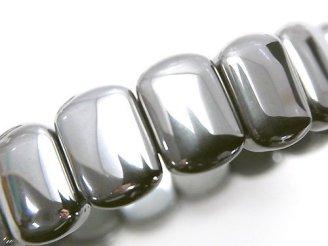 天然石卸 1連1,180円!高純度テラヘルツ鉱石 2つ穴レクタングル14×10×5mm  1連(ブレス)