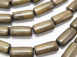 天然石卸 1連480円!グレーウッド チューブ16×8×8mm 1連(約37cm)