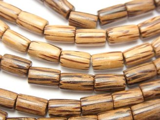 天然石卸 1連380円!パームウッド(椰子の木) チューブ10×6×6mm 1連(約38cm)