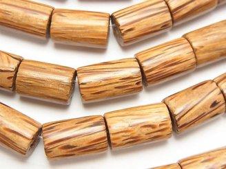天然石卸 1連480円!パームウッド(椰子の木) チューブ14×10×10mm 1連(約38cm)