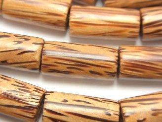 天然石卸 1連480円!パームウッド(椰子の木) チューブ20×10×10mm 1連(約38cm)