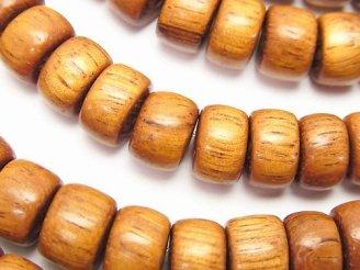 天然石卸 1連780円!バイヨンウッドビーズ ロンデル(チューブ)11×11×7mm 1連(約38cm)