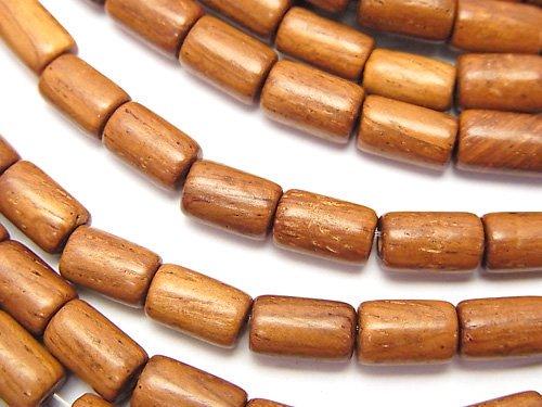 バイヨンウッドビーズ チューブ8×5×5mm 1連(約38cm)