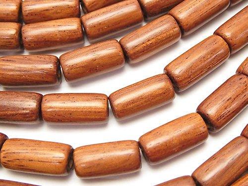バイヨンウッドビーズ チューブ15×8×8mm 1連(約37cm)