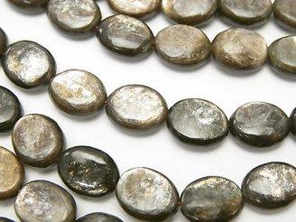 天然石卸 希少!モスコバイト オーバル10×8×4mm 半連/1連(約36cm)