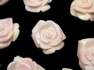 天然石卸 クィーンコンクシェルAA++ 薔薇 20mm 【貫通穴】 2個1,180円!