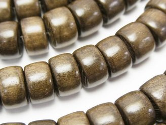 天然石卸 1連580円!グレーウッド ロンデル11×11×7mm 1連(約38cm)