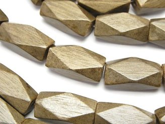 天然石卸 1連680円!グレーウッド レクタングルチューブカット20×10×10mm 1連(約38cm)