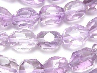 天然石卸 宝石質ピンクアメジストAAA- タンブルカット 半連/1連(約36cm)