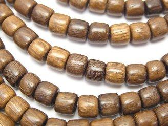 天然石卸 1連280円!ウッドビーズ ロンデル(チューブ)6×6×6mm 1連(約38cm)