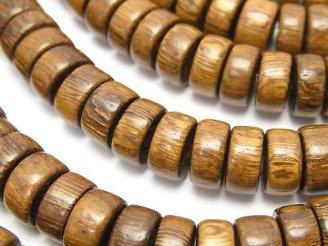 天然石卸 1連420円!ウッドビーズ ロンデル10×10×4mm 1連(約38cm)