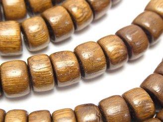 天然石卸 1連480円!ウッドビーズ ロンデル11×11×6mm 1連(約38cm)