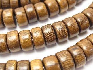 天然石卸 1連480円!ウッドビーズ ロンデル12×12×6mm 1連(約38cm)