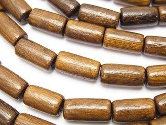 天然石卸 1連380円!ウッドビーズ チューブ16×8×8mm 1連(約38cm)