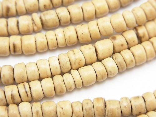 ココナッツ ロンデル5×5×3mm ナチュラルカラー 1連(約35cm)