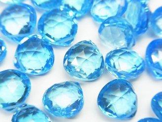 天然石卸 問屋 販売|ケンケンジェムズ ドットコム 最上級宝石質スイスブルートパーズAAA+ マロン ブリオレットカット 2粒2,980円!