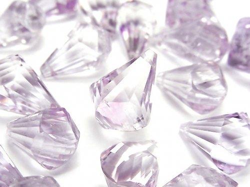【動画】宝石質ローズアメジストAA++ 大粒ドロップ 多面ブリオレットカット 3粒