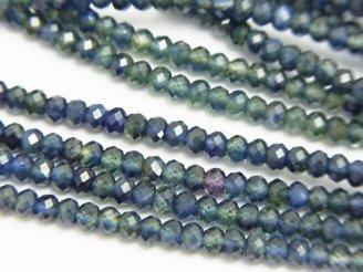 天然石卸 問屋 販売|ケンケンジェムズ ドットコム 1連3,980円!宝石質ブルーグリーンサファイアAAA ボタンカット 1連(ネックレス)