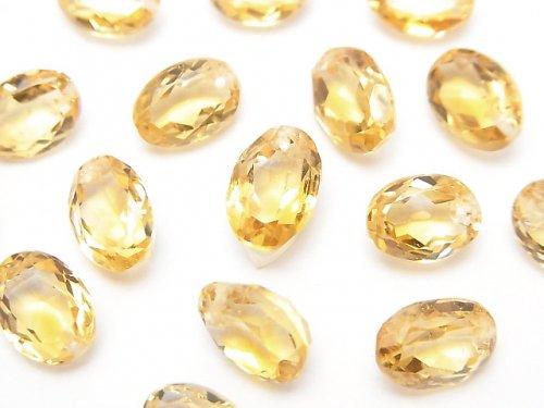 宝石質シトリンAAA オーバルファセットカット9×7×5mm 5粒〜1連(ブレス)