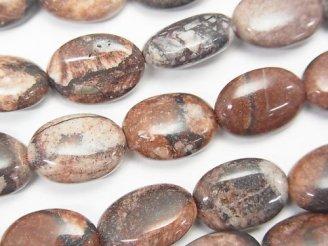 天然石卸 1連680円!レッドピクチャージャスパー オーバル14×10×6 1連(約38cm)