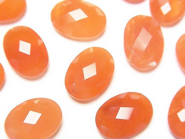 宝石質カーネリアンAAA 穴なしオーバルクッションカット14×10mm 3粒1,380円!