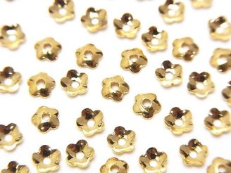 天然石卸 メタルパーツ ビーズキャップ4×4×1.3mm ゴールドカラー 10個140円!