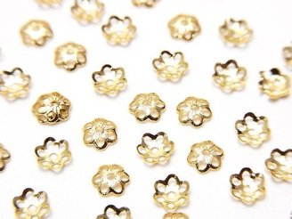 天然石卸 メタルパーツ ビーズキャップ4×4×1mm ゴールドカラー 10個140円!