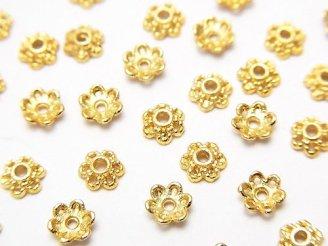 天然石卸 メタルパーツ ビーズキャップ4×4×1.5mm ゴールドカラー 10個140円!