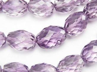 天然石卸 宝石質ピンクアメジストAAA ライス〜タンブルカット 半連/1連(約37cm)