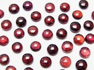天然石卸 宝石質モザンビークガーネットAAA- ラウンド型カボション5×5×2 10粒680円!