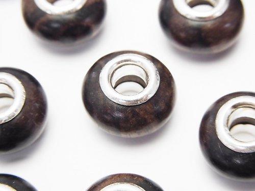 エボニー(黒壇) 大粒ロンデル14mm 【5mm穴】 5個
