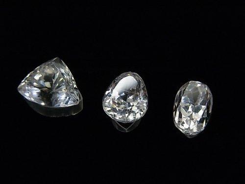 【1点もの】宝石質スポデューメンAAA ファセットカット 3粒セット NO.37