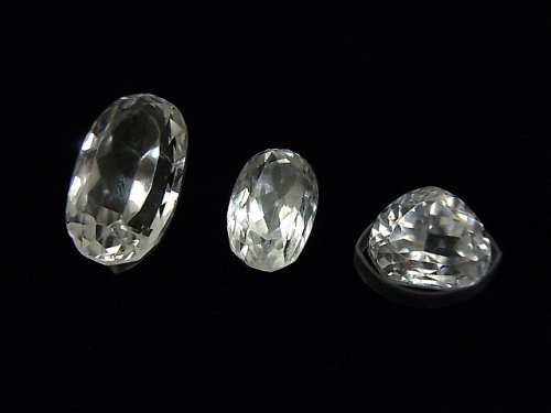 【1点もの】宝石質スポデューメンAAA ファセットカット 3粒セット NO.38