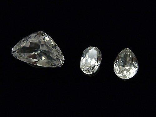 【1点もの】宝石質スポデューメンAAA ファセットカット 3粒セット NO.40