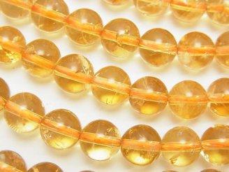 天然石卸 高品質シトリンAAA- ラウンド8mm 1/4連〜1連(約38cm)