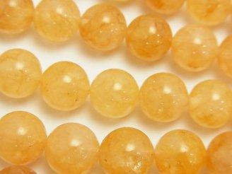 天然石卸 ヒマラヤ産ゴールド「アゾゼオ・アゼツライト」AAA ラウンド10mm 2粒〜1連(約38cm)