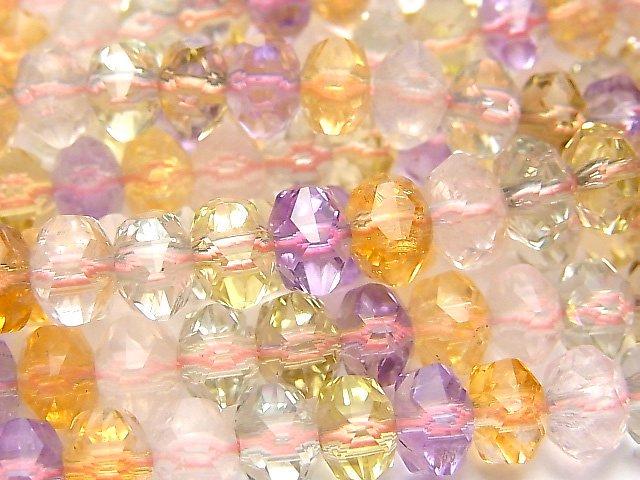【動画】【素晴らしい輝き】宝石質いろんな天然石AAA- スターボタンカット9×9×6mm 1/4連〜1連(約37cm)