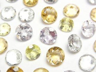 天然石卸 宝石質いろんな天然石AAA ブリリアントカット7×7×4mm 8粒・1連(ブレス)