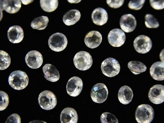 天然石卸 アクアクリスタルAAA- 穴なしブリリアントカット4×4×2.5mm 20粒380円!