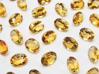 天然石卸 宝石質ブランデーシトリンAAA 穴なしオーバルファセットカット8×6mm 【ライトカラー】 5粒680円!