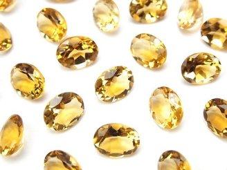 天然石卸 宝石質ブランデーシトリンAAA 穴なしオーバルファセットカット9×7mm 【ライトカラー】 5粒980円!