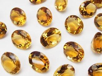 天然石卸 宝石質ブランデーシトリンAAA 穴なしオーバルファセットカット11×9mm 3粒1,180円!